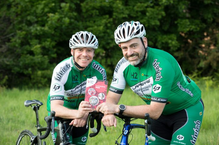Ian Doughty and Simon Hughes are cycling from John O Groats to Lands End.